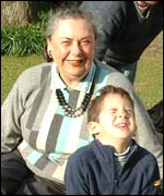 Ellen Popper and her grandson