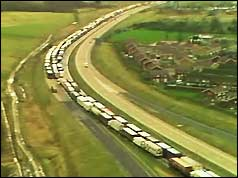 Photo of tailbacks on British motorways