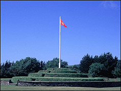 Photograph of Tynwald Hill in the Isle of Man