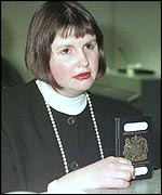 Nicola Horlick with her passport