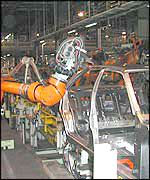 Robot in car factory