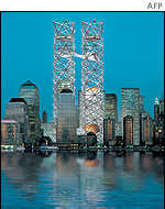 One of the proposed designs for rebuilding the World Trade Center by Think
