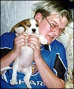 A young Droopy with owner Stuart Stanford