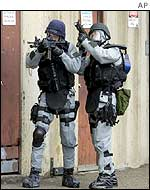 Armed Sydney police officers during an anti-terrorism exercise