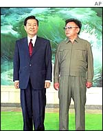 Kim Dae-jung and Kim Jong-il