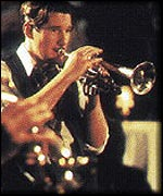 Gere playing trumpet in The Cotton Club