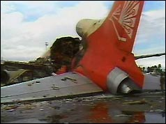 Wreckage of Air Lanka Tristar at Colombo airport