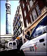 BT van with BT Tower in background