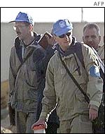 Unmovic inspectors in Iraq