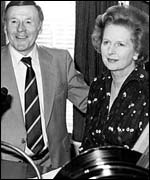 Sir Jimmy Young and Margaret Thatcher