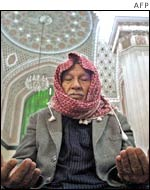 Iraqi man during Friday prayer