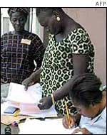 Registration officials