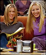 Jennifer Aniston and Lisa Kudrow - pic courtesy Channel 4
