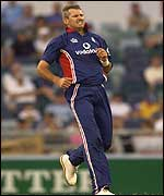 England fast bowler Andrew Caddick