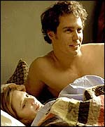 Sam Rockwell and Drew Barrymore