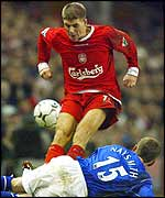Steven Gerrard jumps in on Gary Naysmith