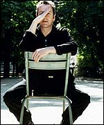 Joe Strummer strikes a pose