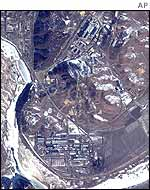 Satellite photo of Yongbyon plant in 2000 by Space Imaging
