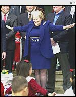 Former Secretary of State Madeleine Albright in Pyongyang in 2000