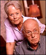 Annette Crosbie and Richard Wilson
