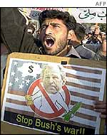 An anti-Bush protest in Pakistan