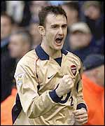 Arsenal's Francis Jeffers