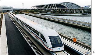 Maglev leaves Shanghai airport
