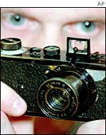 Man with old Leica
