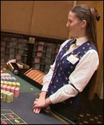 Croupier at Melbourne Casino