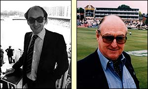 Test Match Special commentator Henry Blofeld pictured in 1981 and 2000