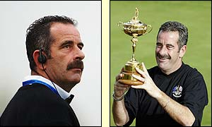 European captain Sam Torrance in action at the Ryder Cup