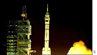La nave espacial china Shenzhou IV.