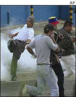 Tear gas in Caracas