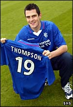 Thompson shows off his new colours