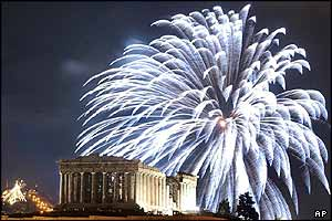 Fireworks over the Parthenon
