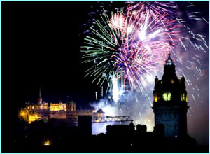 Hogmany, Scottish New Year, celebrations in Edinburgh