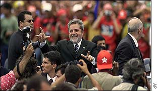 Lula arriving for inauguration