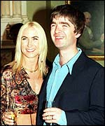 Meg Matthews and Noel Gallagher