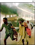 Scenes of the Babri mosque riots in 1992