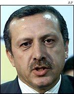 Recep Tayyip Erdogan, leader of Turkey's governing AK party