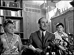 Pierre Laporte with members of his family in his Montreal residence before he was kidnapped and murdered.