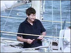 Chay Blyth aboard his yacht