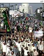 Pro-Taleban rally in Rawalpindi