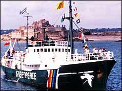 Photograph of the Rainbow Warrior