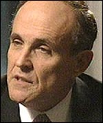 New York's former Mayor Rudy Giuliani