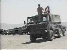 Photograph of British military convoy in Northern Iraq