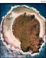 A birdseye view of the once lush island of Anuta