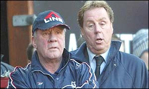 Jim Smith and Harry Redknapp on the Portsmouth bench