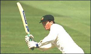 Steve Waugh scores his first Test century against England in 1989