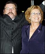 Ricky Tomlinson and his wife Rita